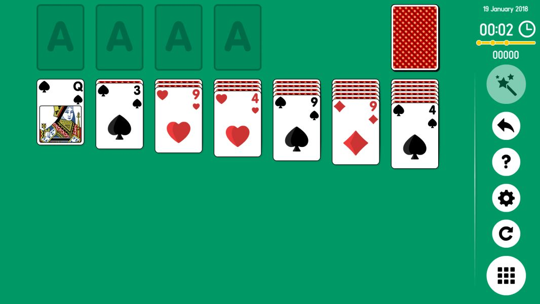 Level 2018-01-19. Online Solitaire