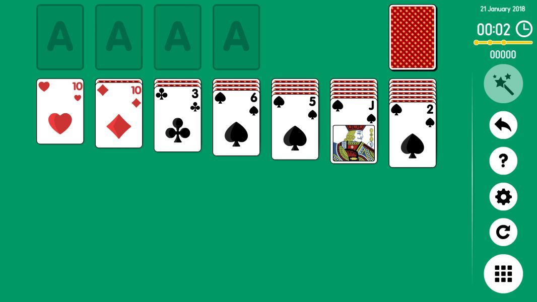 Level 2018-01-21. Online Solitaire