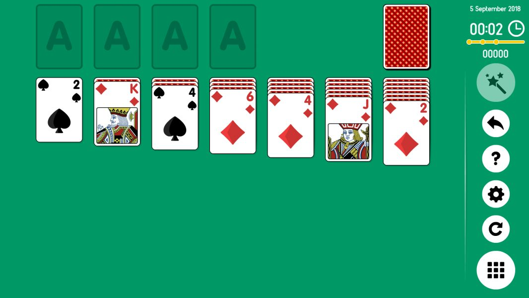 Level 2018-09-05. Online Solitaire
