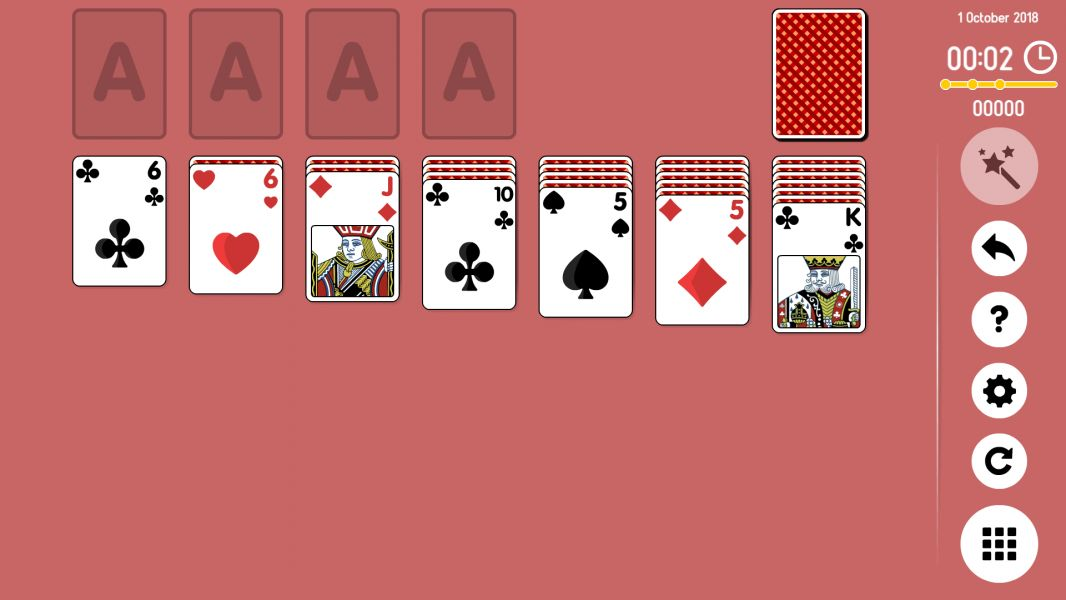 Level 2018-10-01. Online Solitaire