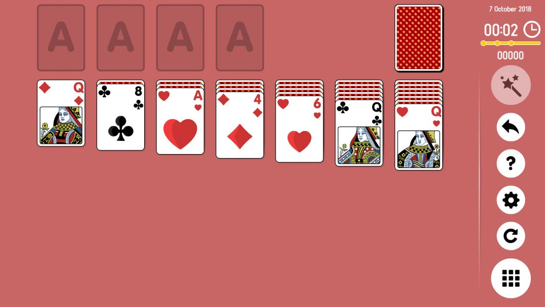 Level 2018-10-07. Online Solitaire