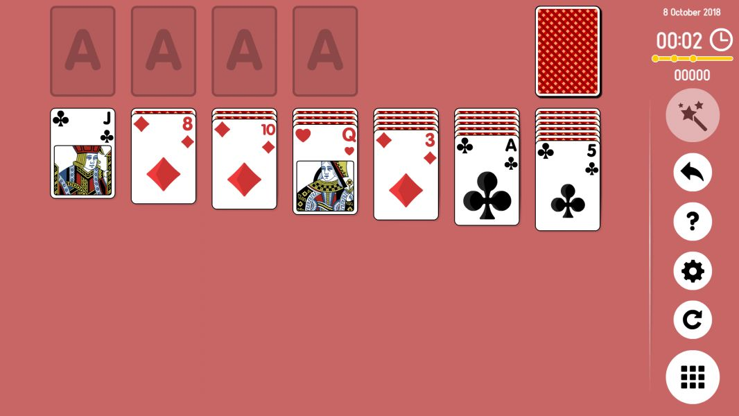 Level 2018-10-08. Online Solitaire