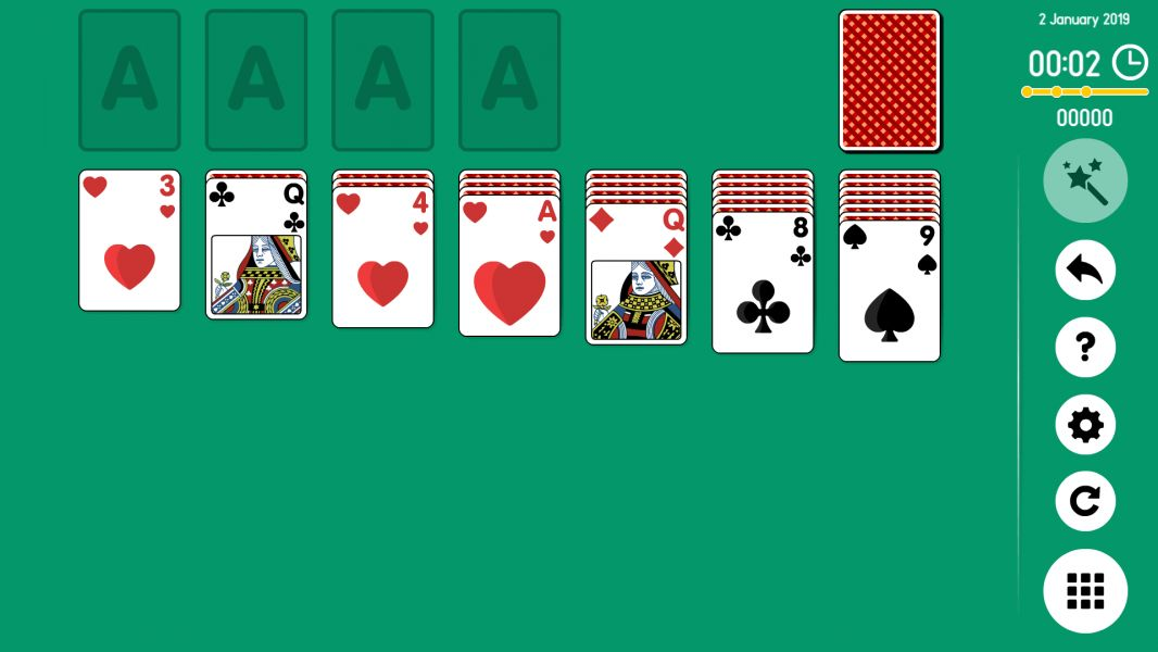 Level 2019-01-02. Online Solitaire