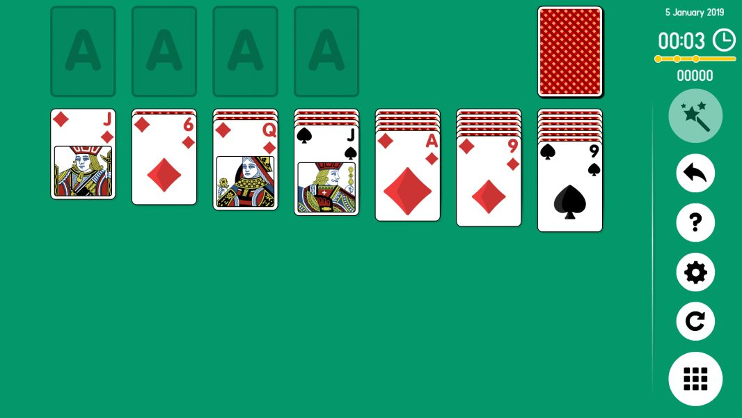 Level 2019-01-05. Online Solitaire