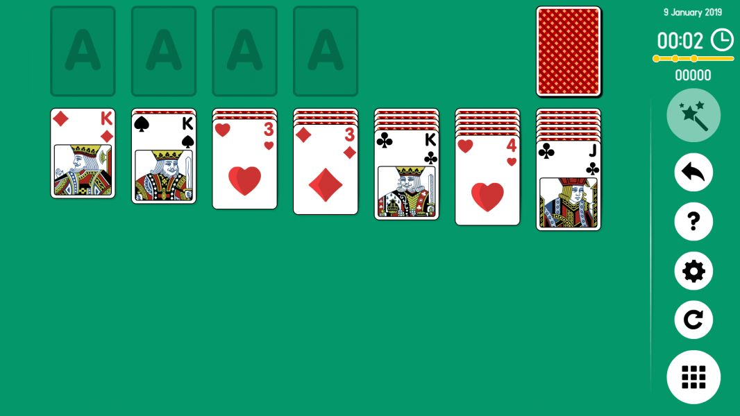 Level 2019-01-09. Online Solitaire