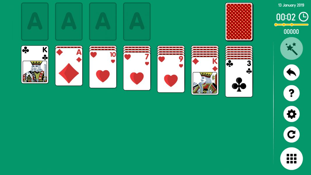 Level 2019-01-12. Online Solitaire