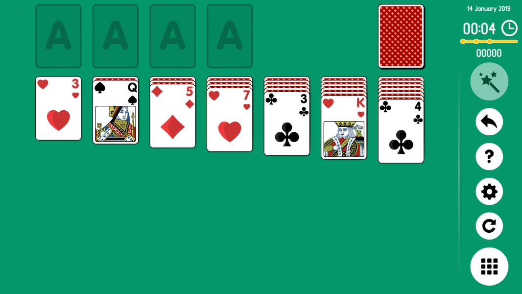 Level 2019-01-14. Online Solitaire