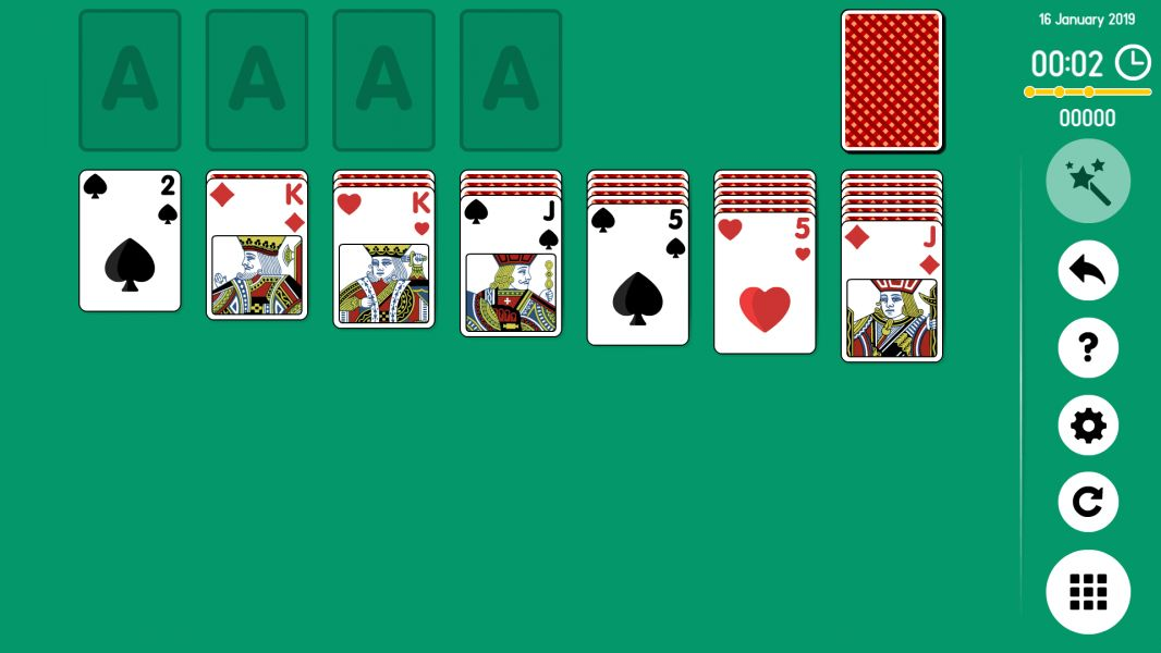 Level 2019-01-16. Online Solitaire