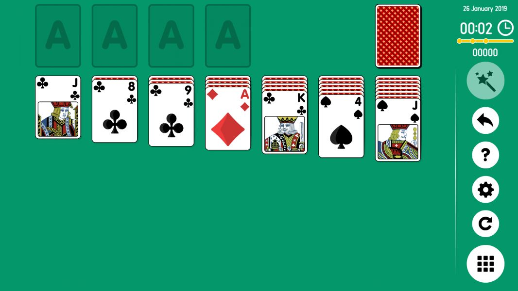 Level 2019-01-26. Online Solitaire
