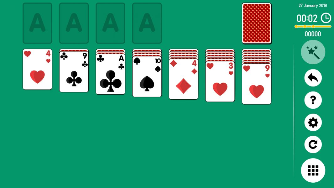 Level 2019-01-27. Online Solitaire