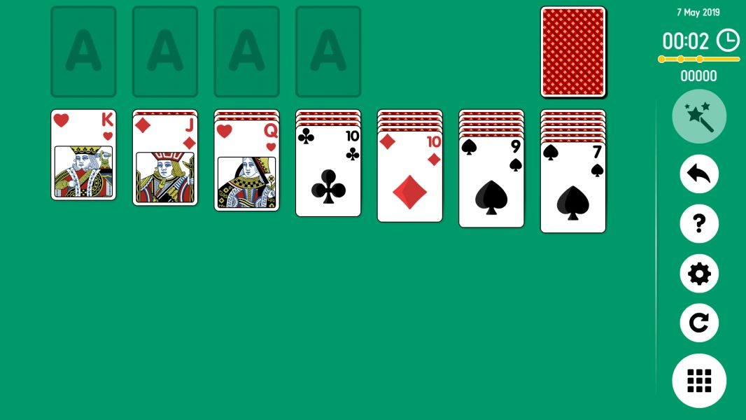 Level 2019-05-07. Online Solitaire