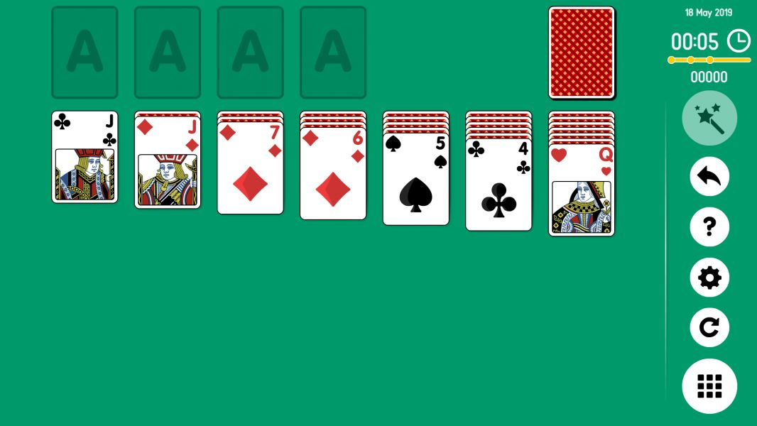 Level 2019-05-18. Online Solitaire